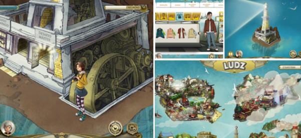 Montagem com telas dos games
