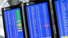 Nas escolas que usam a NewClassrooms, letreiros como os de aeroportos direcionam alunos para diferentes estações de trabalho para aprender matemática