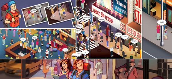 Game Backpacker simula ruas de Nova Iorque para ensinar inglês