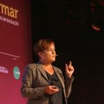 Marjo Kyllönen (Secretaria de Educação de Helsinque - Finlândia) durante palco Currículo para o Século 21- Foto: Luciana Serra