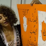 Narjiss Sakhi é marroquina e ensina caligrafia árabe