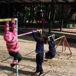 Crianças no parquinho da EMEI Gabriel Prestes - Crédito: Marina Lopes/Porvir