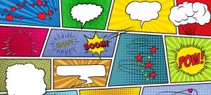 Imagem mostra balões para mostrar as falas de personagens, como em histórias em quadrinhos