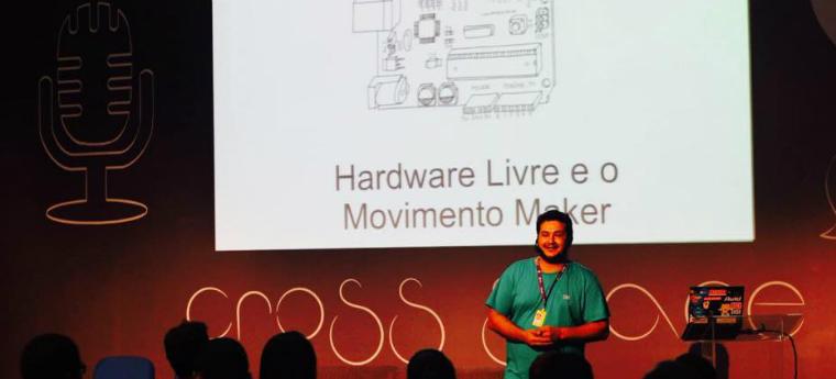 Claudio Olmedo durante a oitava edição da Campus Party - Crédito: Reprodução/Facebook